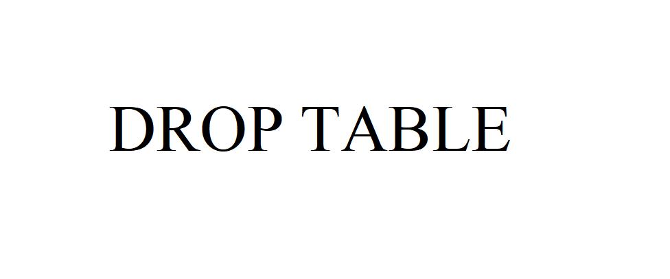 SQL: Удаление таблицы